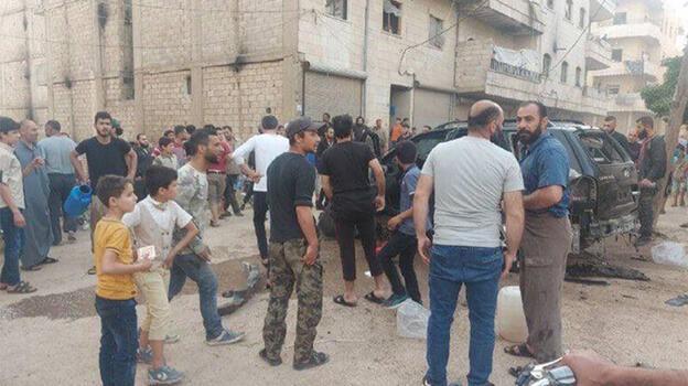 Afrin'de teröristlerden hain saldırı! 5 çocuk yaralandı