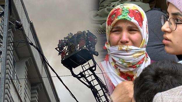 4 katlı binanın çatısı yandı! Alevleri gözyaşları içinde izledi