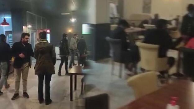 2 kafeye şok baskın! 28 kişiye 34 bin lira ceza