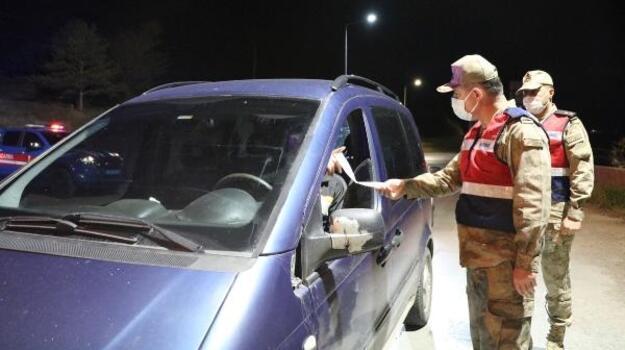 Sivas İl Jandarma Komutanı Tataroğlu, uygulamaya katıldı