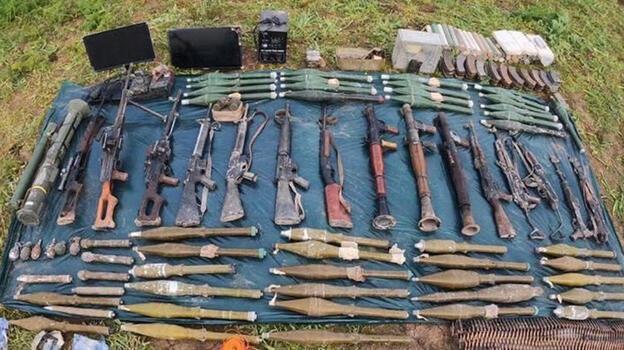 MSB: Irak'ın kuzeyinde PKK'ya ait çok sayıda silah, mühimmat ele geçirildi