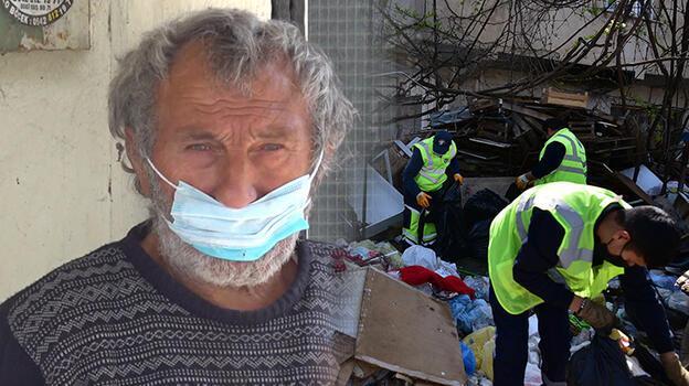 16 ton çöp biriktirdi, toplanırken gözleri doldu