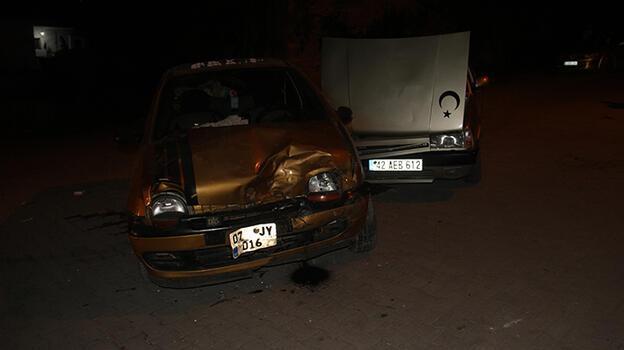 Konya'da iki otomobil çarpıştı! 8 yaralı var