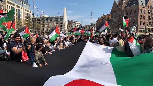 Son dakika... İsrail'in Mescid-i Aksa'daki saldırıları Hollanda'da protesto edildi!