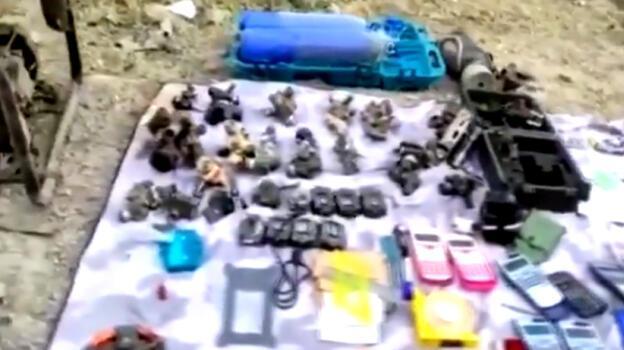 MSB paylaştı! İşte teröristlerin etkisiz hâle getirildiği mağarada bulunanlar