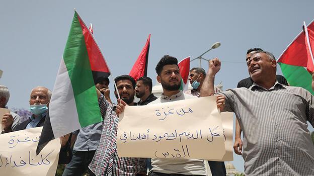 """Son dakika... Gazze Şeridi'nde """"Kudüs'e destek gösterisi"""" düzenlendi!"""