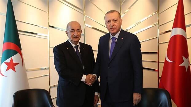 Son dakika! Cumhurbaşkanı Erdoğan Cezayir Cumhurbaşkanı ile görüştü