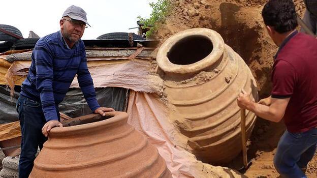 4 yıl önce bulduğu 1700 yıllık küp müzeye kaldırıldı