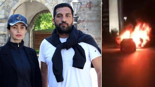 İsrail Konsolosluğu'nun önünde arabalarını yakan o çift konuştu: Neden yaptık?