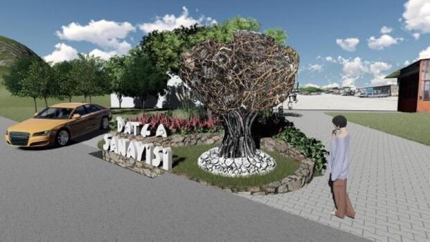 Datça Sanayi Sitesi girişinde 'Sanayi Ağacı' heykeli dikilecek