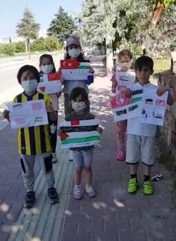 Burdurlu çocuklardan İsrail protestosu
