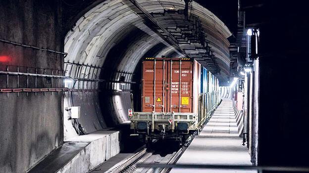 Marmaray'dan  845 yük treni geçti