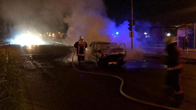 Mersin'de korku dolu dakikalar! Alev alev  yandı
