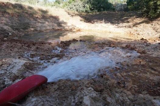 Bodrum'da kurumaya başlayan göletlere su takviyesi