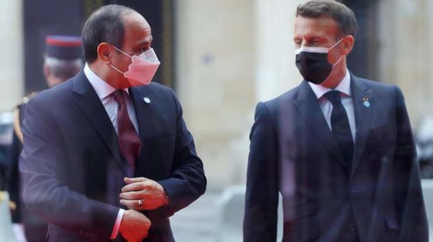 Son dakika... Macron ve Sisi Paris'te görüştü!