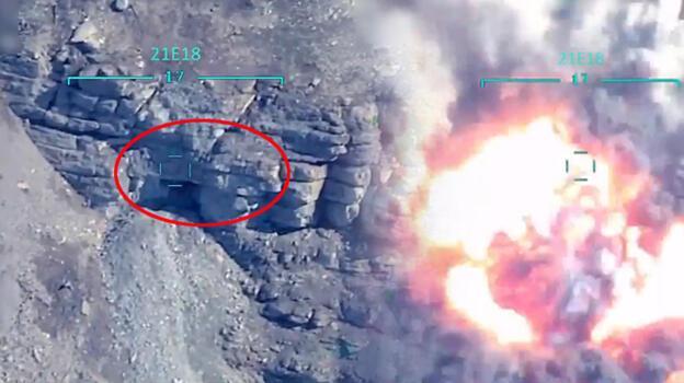 Son dakika gelişmesi: Terörist Sofi Nurettin böyle vuruldu! F-16 görüntüleri paylaşıldı