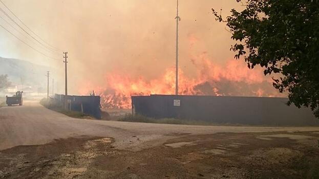 Son dakika: Afyonkarahisar'daki biyokütle enerji tesisinde yangın