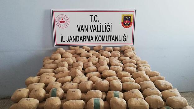 Araziye gizlenmiş 233 kilo 506 gram eroin bulundu