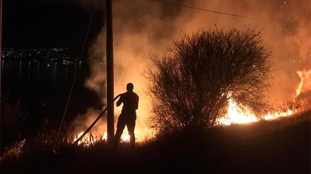 Bodrum'da otluk alanda çıkan yangın söndürüldü