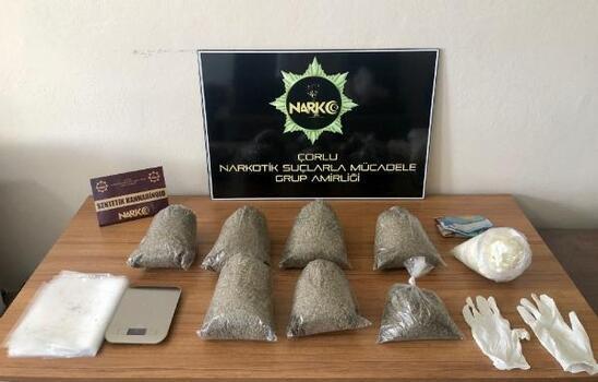 Tekirdağ'da polis, ormanlık alanda 2 kilo bonzai ele geçirdi