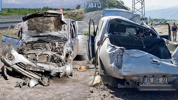 Erzincan'da faciadan dönüldü! 3 kişi devrilen kamyonette sıkıştı