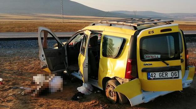 Taksi şarampole devrildi! Şoför öldü, 5 kişi yaralı