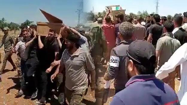 Afrin'deki saldırıda hayatını kaybeden 13 sivil toprağa verildi