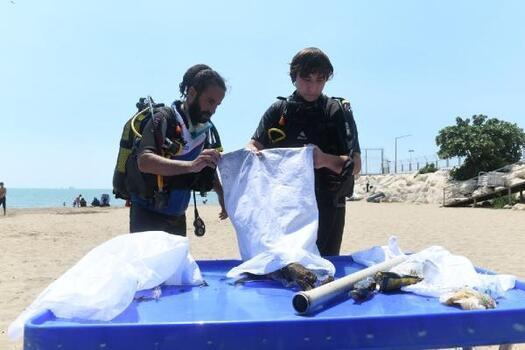 Denizden kilolarca atık çıktı