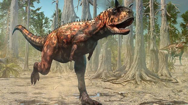Bir dinozor: Carnotaurus