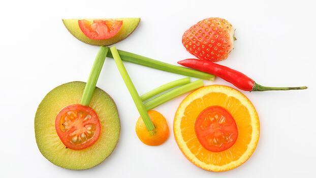 Meyve ve sebzelerden bisiklet yapalım!