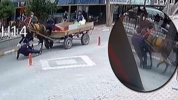 Sakarya'da at arabasının çarptığı kişi yaralandı