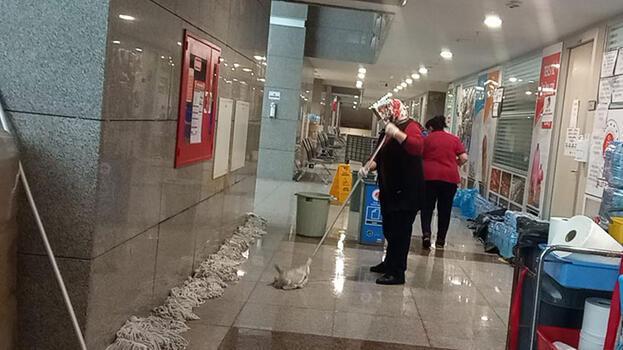 Son dakika... İstanbul Adalet Sarayı'nda su baskını