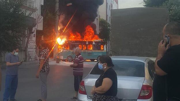 Yer: İzmir! Yolcu minibüsleri yandı, yaralılar var