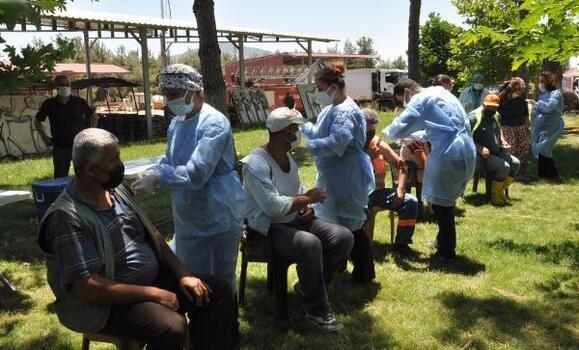 İşçilere yerinde aşı uygulandı