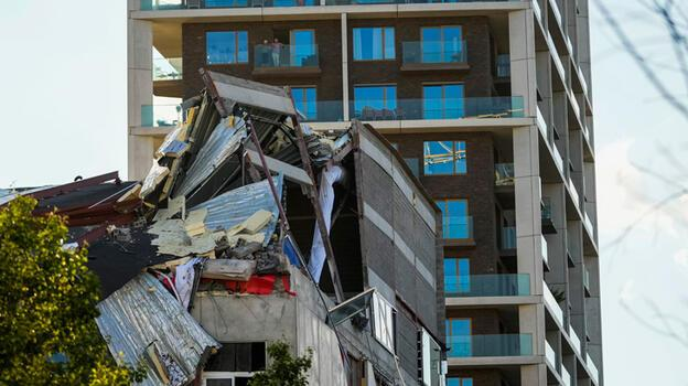 Belçika'da okul inşaatı çöktü