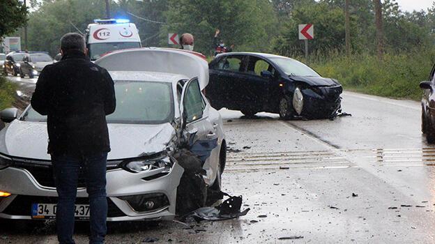Bolu'da sollama kazası! 9 kişi yaralandı...