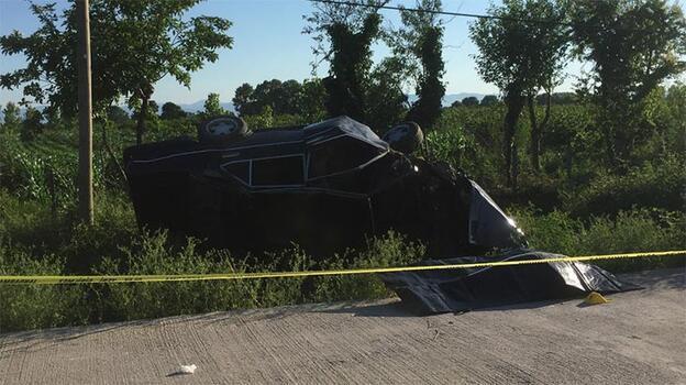Otomobil şarampole devrildi! 1 kişi hayatını kaybetti