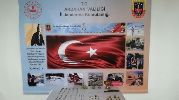 Ardahan'da 179 parça tarihi eser ele geçirildi