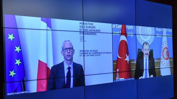Ticaret Bakanı Muş, Fransız mevkidaşı Riester ile video konferans toplantısı gerçekleştirdi