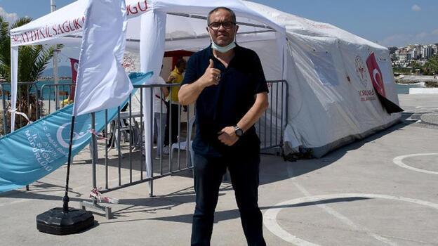 Ünlü tatil beldesinde aşı çadırı kuruldu