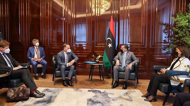 Libya Başbakanı Dibeybe, Almanya Dışişleri Bakanı ile görüştü