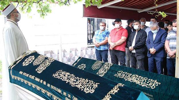 Yangında hayatını kaybeden anne ve oğlunun cenazeleri toprağa verildi