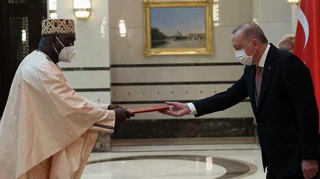Gambiya'nın Ankara Büyükelçisi Njie, Cumhurbaşkanı Erdoğan'a güven mektubunu sundu