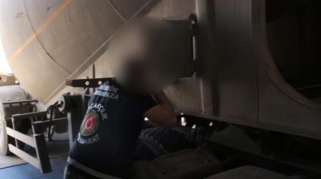Beton mikserinde 270 kurusıkı tabanca ele geçirildi