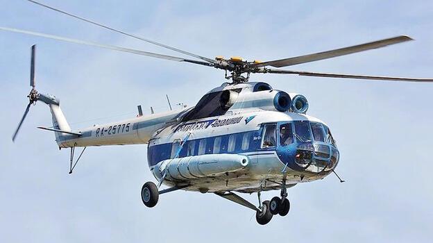 Rusya'da askeri helikopter düştü! Can kayıpları var