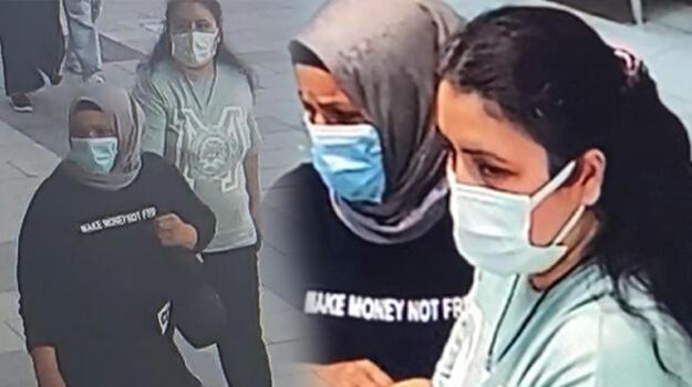 Arnavutköy'de kadınlar dakikalar içinde 16 altın zinciri böyle çaldı
