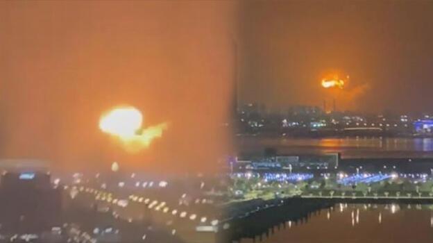 Son dakika: Dubai'de büyük patlama! Alevler yükseldi