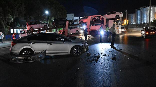 İzmir'de kaza! Karşı yönden gelen araçla çarpıştı