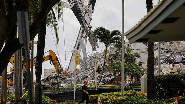 Miami'de çöken binada bilanço ağırlaşıyor