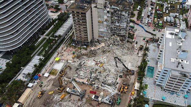 Miami'de çöken 13 katlı binada bilanço ağırlaşıyor